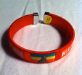Red Green And Gold : Haile Selassie Flag Bracelet/Bangle/Wristband ( Small Red)