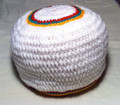 Authentic V2 Custom Knitted Rasta Tam - White (Large)