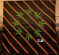 Rasta Stripes - One Love Weed Leaf : Handkerchief, Headwrap, Bandana