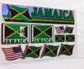 Jamaica - Flag Stickers : Set Of 9 Different Sizes