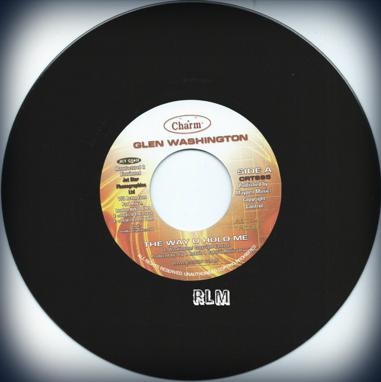 Glen Washington The Way U Hold Me 7 Quot Reggae Land Muzik