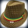 Rasta Milani Straw : Fedora Hat (Brown)