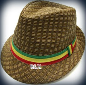 Rasta Milani Straw   Fedora Hat (Brown) - Reggae Land Muzik Store b0c801ebd5c