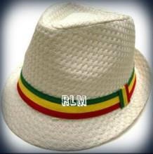 Rasta Milani Straw   Fedora Hat (White) - Reggae Land Muzik Store a9a23d96e84