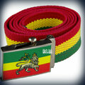 Rasta Adjustable - Lion Of Judah : Canvas Belt