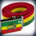 Rasta Adjustable - Lion Of Judah : Canvas Belt