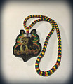 "Lion Of Judah - 36"" Rasta Flag : Necklace & Wooden Pendant (Super Large Size Deluxe)"