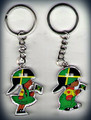 Jamaica Flag - Bad Girl : Keychain
