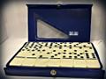 Double Six : Dominoes Set (Blue Case)