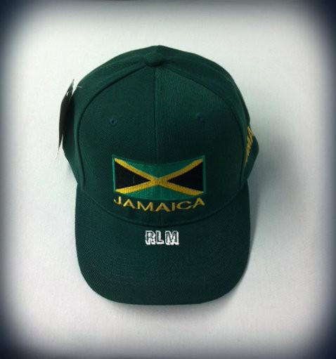 Jamaica Flag   Ball Cap (Green) - Reggae Land Muzik Store 97bd8a1cf4ec