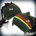 Rasta Reggae - Tube : Beanie (Army Green)(CHOOSE COLORS)