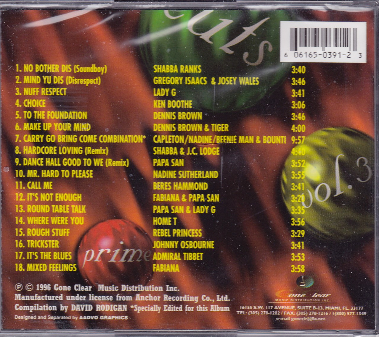 Prime Cuts From Music Works Vol 3   Various Artist CD