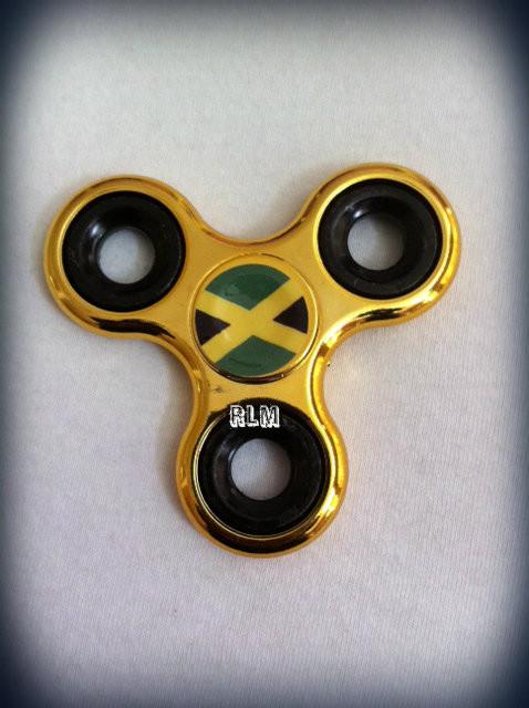 Jamaica Flag - Hand Spinner   Triple Hand   Fidget Spinner (Platinum ... a95f52d03d7c