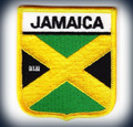 Jamaica Flag Shield : Embroidered - Patch