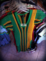 Jamaica Mesh - Dress (Black, Green & Gold)