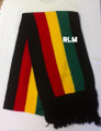 Rasta Scarf : With Wide Rasta Stripes (Black)