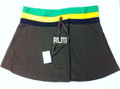 Jamaica - Reggae : Mini Skirt (Dark Brown)