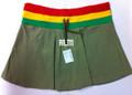 Rasta - Reggae : Mini Skirt (Olive)