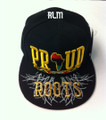 Black Pride Proud Of My Roots - Snapback : Ball Cap/Hat (Black)