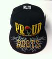 Black Pride Proud Of My Roots - Snapback : Ball Cap/Hat (Black)