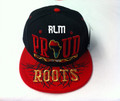 Black Pride Proud Of My Roots - Snapback : Ball Cap/Hat (Black/Red)