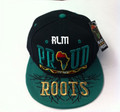 Black Pride Proud Of My Roots - Snapback : Ball Cap/Hat (Black/Green)