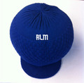 Knitted Large Peak Hat  - Royal Blue