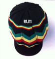 Knitted : Rasta Hat (Black/Rasta Stripes)
