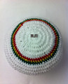 Authentic V2 Custom Knitted Rasta Tam - White (Large) 2
