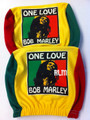 Bob Marley - One Love : Auto Seat Head Rest Covers (Pair)