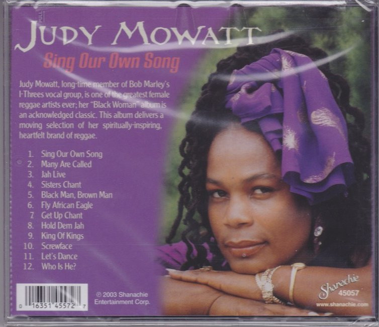 Judy Mowatt   Sing Our Own Song CD