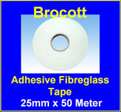 Adhesive Woven Fibre Glass Tape - 25mm x 50m x 0.18mm