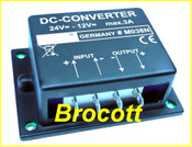 DC Voltage Converter - 24VDC To 12VDC 3 Amp