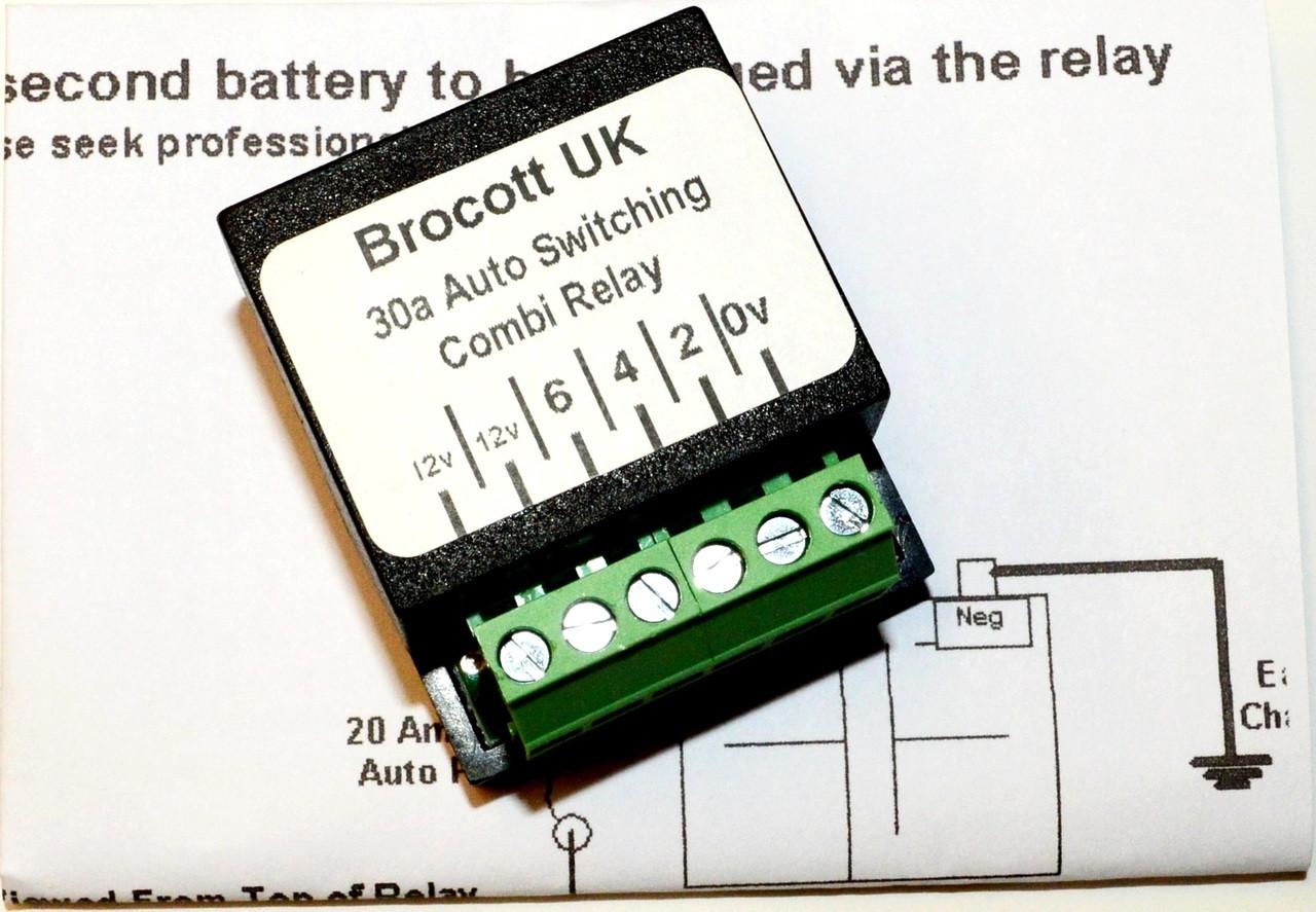 voltage sensing split charge relay kit rh brocott co uk