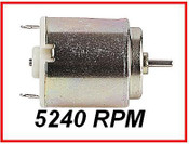 Micro High Torque Motor, 5240 rpm, 1,5 - 4,5v