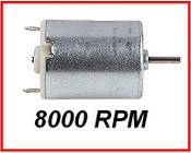 Micro High Torque Motor, 8000 rpm, 1,5 - 6.0v