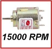 Micro Motor PCD Mountable, 15000 rpm, 1,5 - 4,5v
