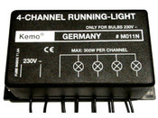 4 Channel Running Light - 230VAC, 300Watt x 4