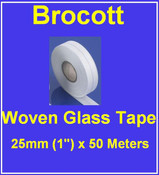 Woven Fibre Glass Tape - 25mm x 50m x 0.13mm