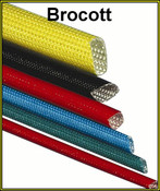 Acrylic Coated Woven Glass Sleeving - 8mm (Per Meter)