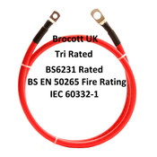 10mm, 75 Amp RED Automotive Battery Jump/Link Leads. Various Options.