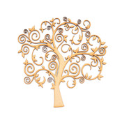 MDF Swirly Tree Shape