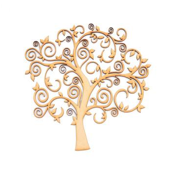 MDF Swirly Tree Shape