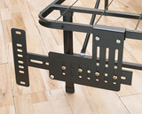 Platform bed frame headboard/footbaord brackets. Allow you to mount most standard headboard and/or footboards to the bed frame.