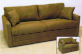 Embrace Convertible Sleeper Sofa. Sofa Bed. Hide-A-bed with premium memory foam mattress.