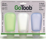 Humangear GoToob, 3-Pk, Large (3 oz), Clear/Green/Blue by LCI Brands|lci brands, humangear, gotoob, large, 3 pack