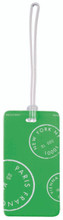 Bell Hop Plastic Neon Luggage Tag by LCI Brands|lci brands, belle hop, neon luggage tag, plastic, neon pink,green, yellow