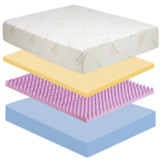 Slumber Saver Series 12 Memory Foam Mattress|memory foam, mattress, bamboo fiber, reflexa foam base, 20 year warranty