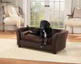 Enchanted Home Pet Panache Brown enchanted home pet beds, pet beds, snuggle pet sofa, snuggle beds, pet sofa, panache, brown