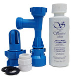 Waterbed FILL AND DRAIN KIT--Blue Magic|waterbed accessories, fill and drain kit, waterbed conditioner, blue magic conditioner, faucet adapter